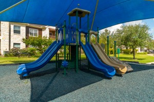 Apartments in Katy, TX - Childrens Playground with Slides Up Close